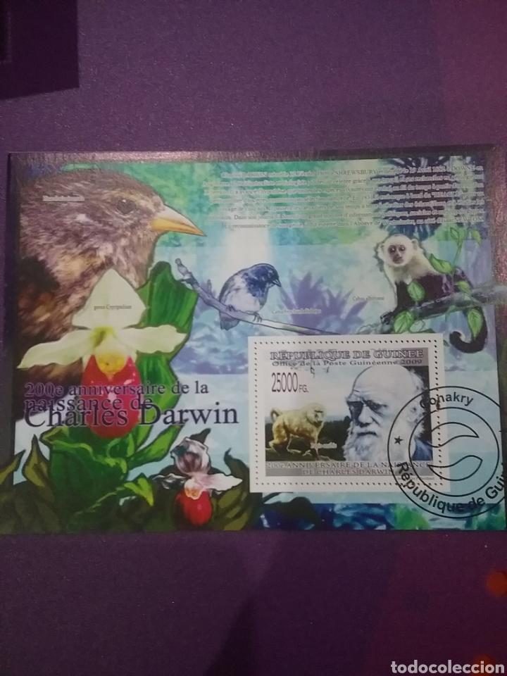 HB R. GUINEA MTDOS/2009/200ANIV/NACIMIENTO/CHARLES/DARWIN/AVES/PAJAROS/SIMIO/MONO/FLORES/FLORA/MAMIF (Sellos - Temáticas - Flora)