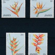 Sellos: JAMAICA 1986 IVERT 655/8 *** NAVIDAD - FLORES DIVERSAS. Lote 254197435