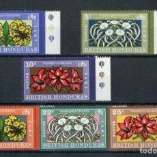 Sellos: HONDURAS BRITÁNICA 1971 IVERT 266/71 *** LA PASCUA - FLORES DIVERSAS. Lote 254198145