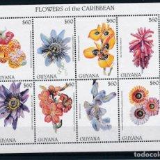 Sellos: GUYANA 1997 IVERT 4301/8 *** FLORA - FLORES DEL CARIBE. Lote 254214925