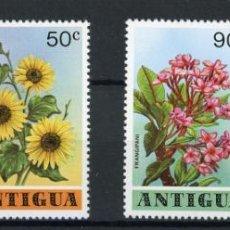 Sellos: ANTIGUA 1978 IVERT 506/9 *** FLORA - FLORES DIVERSAS. Lote 254218415