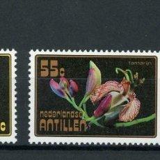 Sellos: ANTILLAS HOLANDESAS 1977 IVERT 520/2 *** FLORES TROPICALES - FLORA. Lote 254383410