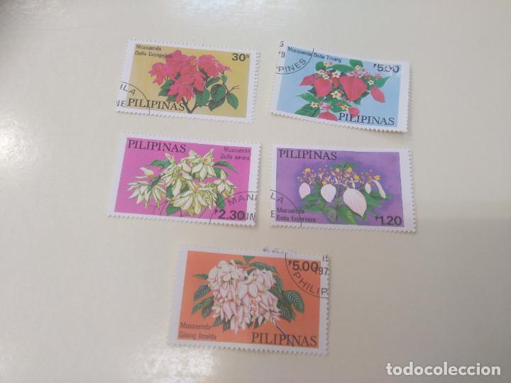 LOTE DE 5 SELLOS DE FLORES, DE FILIPINAS. PILIPINAS STAMPS (Sellos - Temáticas - Flora)
