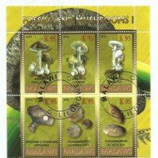 Sellos: MALAWI 2010 HOJA BLOQUE SELLOS FLORA FOSILES Y CHAMPIGNONES- MUSHROOMS- SETAS - HONGOS. Lote 254761255