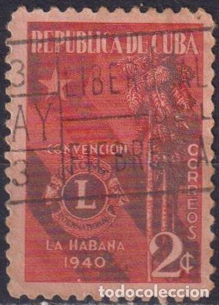 ⚡ DISCOUNT CUBA 1940 LIONS INTERNATIONAL CONVENTION, HAVANA U - FLAGS, PALM TREES, LIONS (Sellos - Temáticas - Flora)