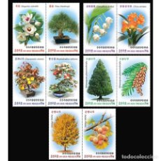 Sellos: ⚡ DISCOUNT KOREA 2019 60 YEARS OF THE CENTRAL BOTANICAL GARDEN 3D MNH - FLOWERS. Lote 255654445