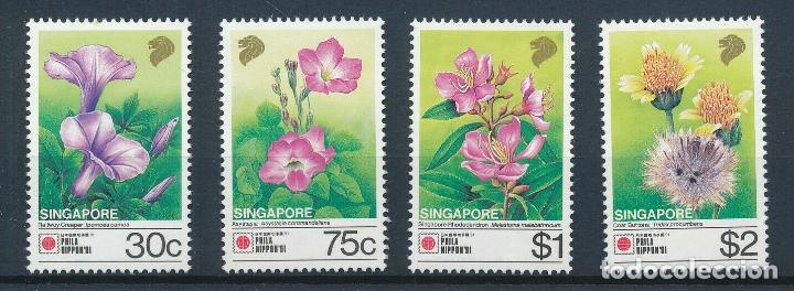 SINGAPUR 1991 IVERT 619/22 *** FLORA - FLORES DIVERSAS (Sellos - Temáticas - Flora)