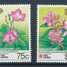 Sellos: SINGAPUR 1991 IVERT 619/22 *** FLORA - FLORES DIVERSAS. Lote 257283525