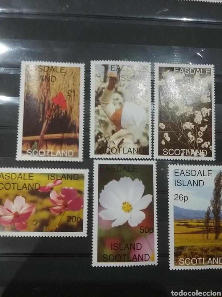 SELLO I. EASLADE SCOTLAND NUEVO/AÑO....?/FLOTES/FLORA/NATURALEZA/PLANTA/AMAPOLA/ARBOL/NO RECON U.P.U (Sellos - Temáticas - Flora)
