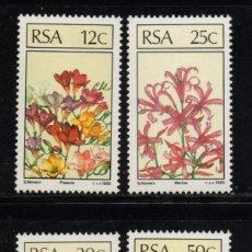 Sellos: SUDAFRICA 588/91** - AÑO 1985 - FLORA - FLORES Y PLANTAS. Lote 257322735