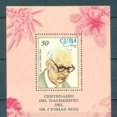 Sellos: ⚡ DISCOUNT CUBA 1977 AIRMAIL - THE 100TH ANNIVERSARY OF THE BIRTH OF DOCTOR JUAN TOMAS ROIG, B. Lote 260552345