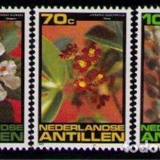 Sellos: ANTILLAS HOLANDESAS - FLORES - YVERT Nº 644/646**. Lote 261603840
