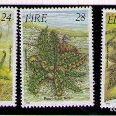 Sellos: IRLANDA 1986 - FLORES - YVERT Nº 589-591**. Lote 261824150