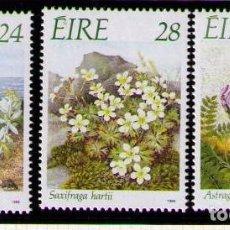 Sellos: IRLANDA 1988 - FLORES - YVERT Nº 657-659**. Lote 261824495