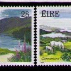 Sellos: IRLANDA 1989 - FLORA - PARQUES Y JARDINES- YVERT Nº 674-677**. Lote 261824855