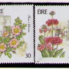 Sellos: IRLANDA 1990 - FLORES - YVERT Nº 732-735**. Lote 261825015