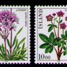 Sellos: ISLANDIA 1983 - FLORA - FLORES - YVERT 545/548**. Lote 261829830