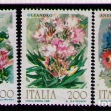 Sellos: ITALIA 1981 - FLORES - YVERT Nº 1477-1479**. Lote 261841945
