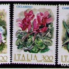 Sellos: ITALIA 1981 - FLORES - YVERT Nº 1527-1529**. Lote 261842115