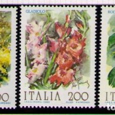 Sellos: ITALIA 1983 - FLORES - YVERT Nº 1571-1573**. Lote 261842385