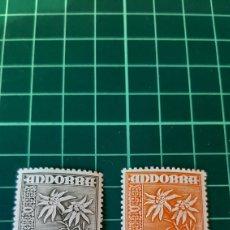 Sellos: ANDORRA ESPAÑOLA 1948 FLORES FLORA 45 Y 46 NUEVA *** FILATELIA COLISEVM. Lote 261967275
