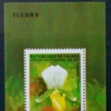 Sellos: FLORES HOJA BLOQUE DE SELLOS NUEVOS DE GUINEA. Lote 262029785