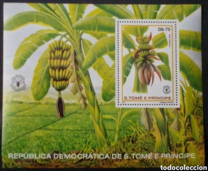 ST. TOME Y PRÍNCIPE BANANAS HOJA BLOQUE DE SELLOS NUEVOS (Sellos - Temáticas - Flora)