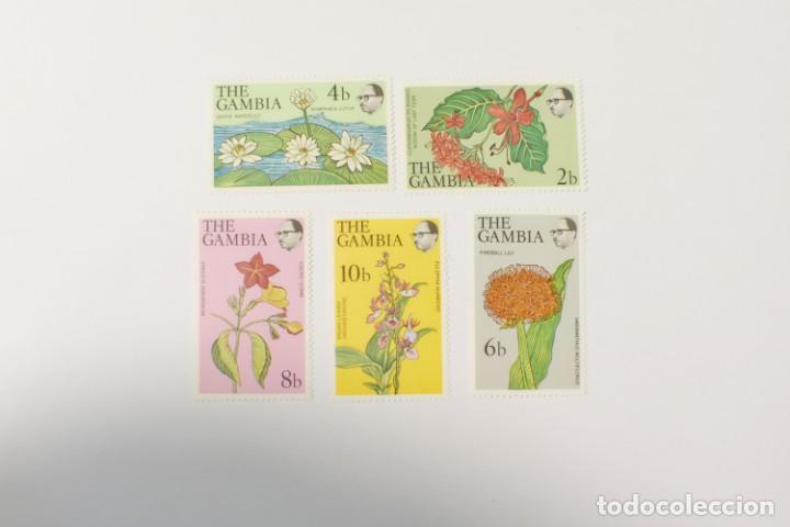 5 SELLOS NUEVOS DE FLORA DE GAMBIA (Sellos - Temáticas - Flora)
