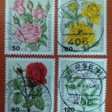 Sellos: ALEMANIA BERLIN 1982. WELFARE: GARDEN ROSES. Lote 262813510