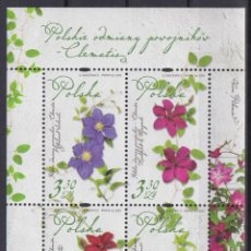 Sellos: ⚡ DISCOUNT POLAND 2019 FLORA - POLISH CLEMATIS MNH - FLOWERS. Lote 262869755