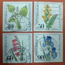 Sellos: ALEMANIA BERLIN 1981. WELFARE: ENDANGERED BOG, MARSH MEADOWS AND WATER PLANTS. Lote 263164990