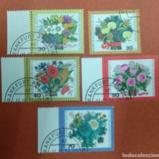 Sellos: ALEMANIA BERLIN 1974. 25 YEARS WELFARE STAMPS: BOUQUETS. Lote 263166690