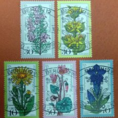 Sellos: ALEMANIA BERLIN 1975. WELFARE: ALPINE FLOWERS. Lote 263172360