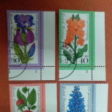 Sellos: ALEMANIA BERLIN 1976.WELFARE: GARDEN FLOWERS. Lote 263178705