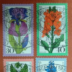 Sellos: ALEMANIA BERLIN 1976.WELFARE: GARDEN FLOWERS. Lote 263187695