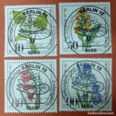 Sellos: ALEMANIA BERLIN 1981. WELFARE: ENDANGERED BOG, MARSH MEADOWS AND WATER PLANTS. Lote 263193690