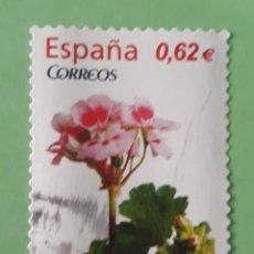 Sellos: SELLO DE ESPAÑA AÑO 2009. EDIFIL 4469. FLORA. GERANIO. USADO.. Lote 265125754