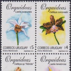 Sellos: ⚡ DISCOUNT URUGUAY 2000 ORCHIDS MNH - ORCHIDS. Lote 265520519