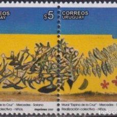 Sellos: ⚡ DISCOUNT URUGUAY 2000 INDIGENOUS FLORA MURAL MNH - ART, FLORA. Lote 265520579