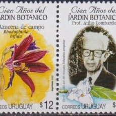 Sellos: ⚡ DISCOUNT URUGUAY 2002 THE 100TH ANNIVERSARY OF THE MONTEVIDEO BOTANICAL MUSEUM MNH - FLOWE. Lote 265521954