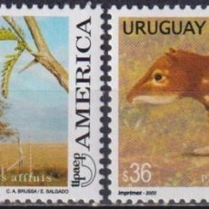 Sellos: ⚡ DISCOUNT URUGUAY 2003 AMERICA - FLORA AND FAUNA MNH - FLORA, FAUNA. Lote 265523219