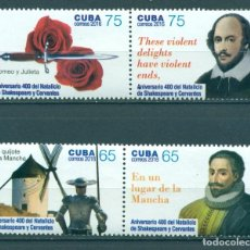 Sellos: ⚡ DISCOUNT CUBA 2016 THE 400TH ANNIVERSARY OF THE DEATH OF WILLIAM SHAKESPEARE, 1564-1616 MNH. Lote 266184103