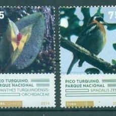 Sellos: ⚡ DISCOUNT CUBA 2016 NATIONAL PARKS - PICO TURQUINO MNH - FLORA, BIRDS, FAUNA, NATURE, BUTTE. Lote 266184793