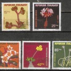 Sellos: MADAGASCAR. 1975. YT 562/65. FLORES.FLORA.. Lote 267432979