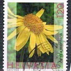 Sellos: SUIZA 1817, ARNICA MONTANA, USADO. Lote 268445664