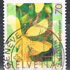 Sellos: SUIZA 1814, HIERBA DE SAN JUAN, USADO. Lote 268445844