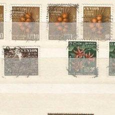 Sellos: CEYLAN - LOTE NATURALEZA & FRUTOS - 11 SELLOS USADOS. Lote 269501048