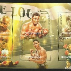 Sellos: MOZAMBIQUE 2012 HOJA BLOQUE SELLOS BOXEO- MARVIN HAGLER- MIKE TYSON- FRAZIER- MOHAMED ALI- LOUIS. Lote 273319078