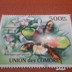 Sellos: SELLO COMORAS (I. COMORES) NUEVOS/2011/ORQUIDEAS/FLORES/FLORA/PLANTAS/ACUATI/LEER REGALO DESCRIPCION. Lote 276816738