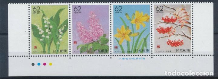 JAPON 1991 IVERT 1918/21 *** FLORA - FLORES DIVERSAS (Sellos - Temáticas - Flora)